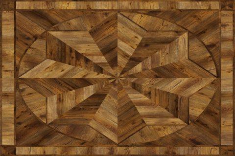pièce de marqueterie en bois