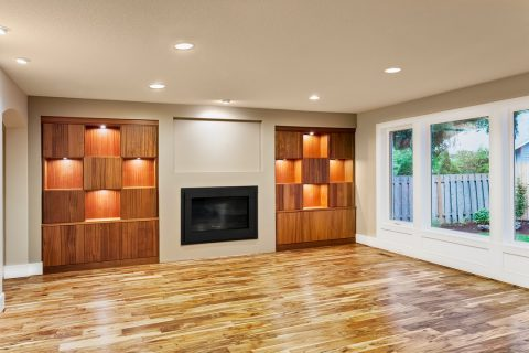 mobilier personnalisé en bois de salon