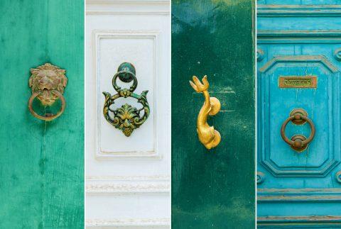 divers travaux de bronzeur monteur sur une porte